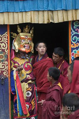 Photograph - Mahankala Masked Dancer - Kham Tibet by Craig Lovell