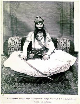 Festivals Of India Photograph - Maharao Of Bundi by British Library