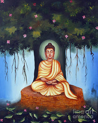Buddhist Painting - Mahatma Buddha by Divya Kakkar