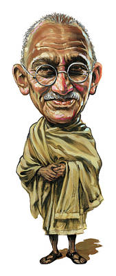 Comics Royalty-Free and Rights-Managed Images - Mahatma Gandhi by Art