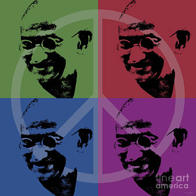 Digital Art - Mahatma Gandhi  by Jean luc Comperat