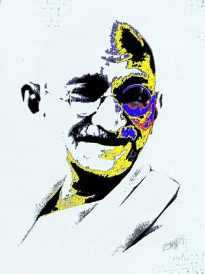 Mixed Media - Mahatma Gandhi Man Of Masses by Piety Dsilva