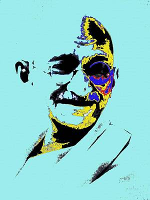 Mixed Media - Mahatma Gandhi Man Of Massez by Piety Dsilva