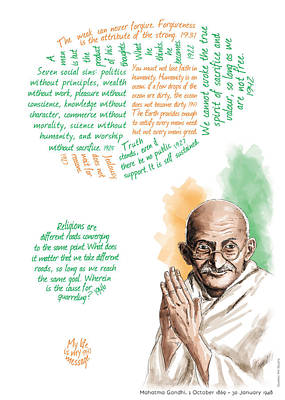 Mahatma Gandhi With Quotes Original