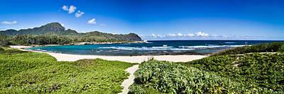 Photograph - Mahaulepu Beach Kauai Panorama by Roger Mullenhour