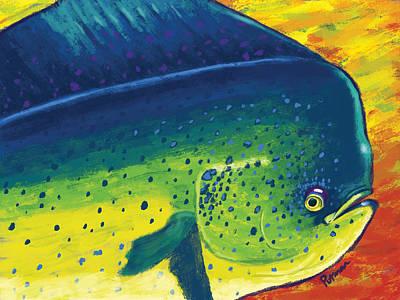 Mahi Colors Art Print by Kevin Putman