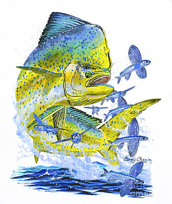 Mahi Mahi Art Print by Carey Chen
