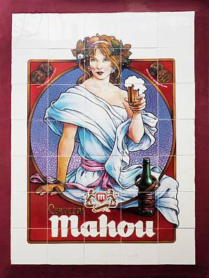 Mahou Beer Art Print by Ken Welsh