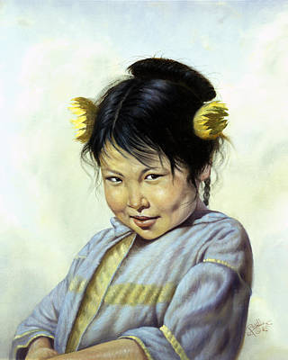 Indian Fine Art Painting - Mai Li by Gregory Perillo