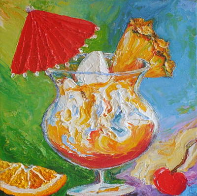 Mai Tai Mixed Drink Art Print by Paris Wyatt Llanso