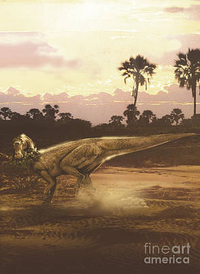 Soil Digital Art - Maiasaura Duckbill Dinosaur Laying Eggs by Jan Sovak