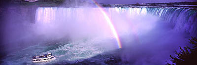Fall Of River Photograph - Maid Of The Mist With Rainbow by Panoramic Images