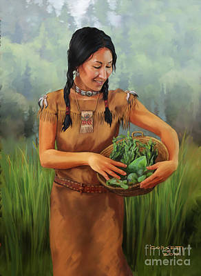Indian Lore Painting - Maiden Basket by Rob Corsetti