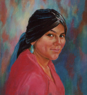 Painting - Maiden From Jemez Pueblo by Ann Peck