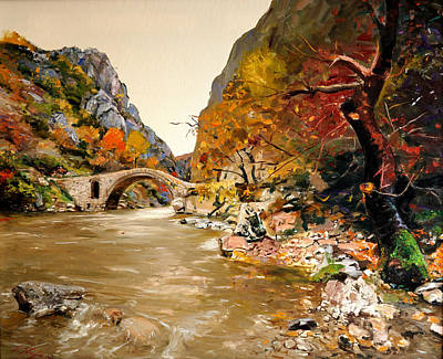 Painting - Maidens Bridge - Ura E Vashes by Sefedin Stafa