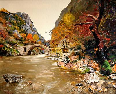 Painting - Maidens Bridge - Ura E Vashes by Sefedin Stafa