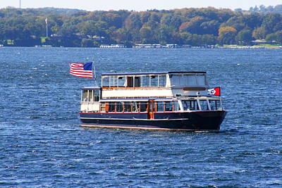 Photograph - Mail Delivery Boat Lake Geneva Wisconsin by Kay Novy