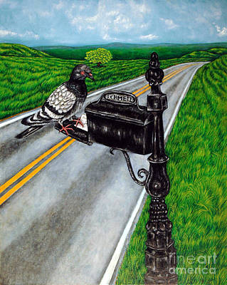 Painting - Mail Delivery by Jay  Schmetz