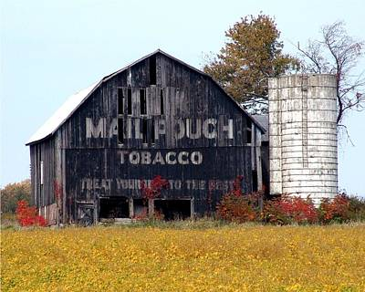 Mail Pouch Barn - Award Winning Stunning Fall Landscape Original by James Scott Preston
