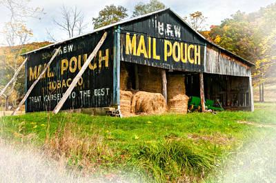 Mail Pouch Photograph - Mail Pouch Barn Vignette by Steve Harrington