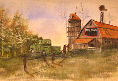 Mail Pouch Barn Painting - Mail Pouch Barn by Yuvonne Buege Hogston