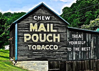 Photograph - Mail Pouch Chew by Frozen in Time Fine Art Photography