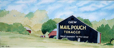 Mail Pouch Barn Painting - Mail Pouch by Jim Gerkin