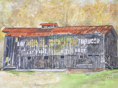 Mail Pouch Barn Painting - Mail Pouch  by Peggy Dickerson