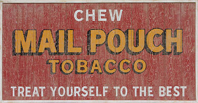 Mail Pouch Barn Painting - Mail Pouch Sign by Bill Jonas