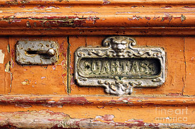 Mailbox Photograph - Mail Slot by Carlos Caetano