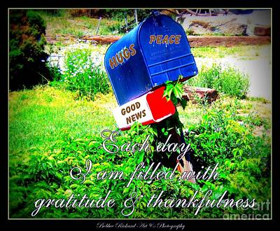 Photograph - Mailbox Art Of Gratitude by Bobbee Rickard