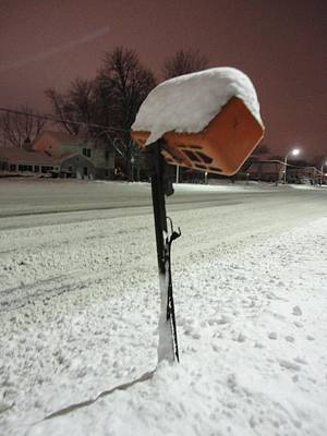 Photograph - Mailbox Under Snowy Seige by Guy Ricketts