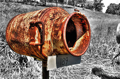 Mail Box Photograph - Mailbox With Character by Kaye Menner