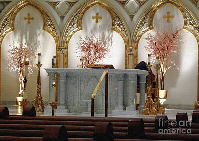 Photograph - Main Altar Saint Jospehs Cathedral Buffalo New York by Rose Santuci-Sofranko