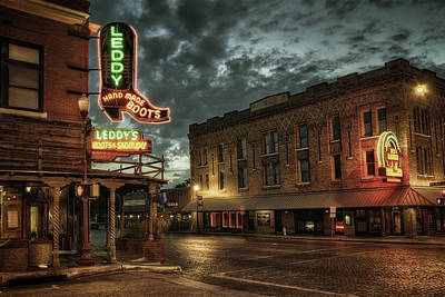Vintage Pink Cadillac - Main and Exchange by Joan Carroll