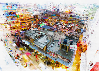 Main Bazaar In New Delhi India Original