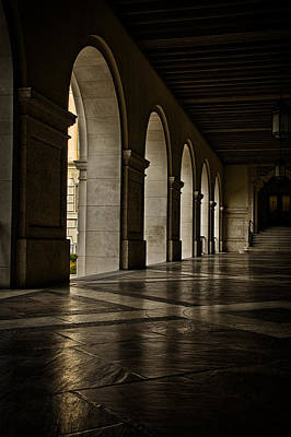 Main Building Arches University Of Texas Print by Joan Carroll