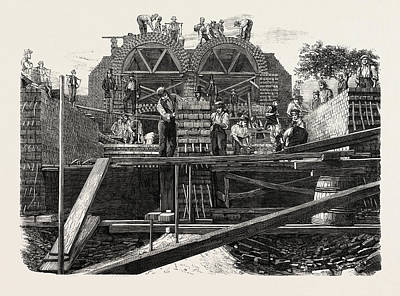 Main Drainage Of The Metropolis Art Print by English School