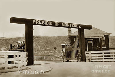 Photograph - Main Gate Presidio Of Monterey California Circa 1930 by California Views Mr Pat Hathaway Archives