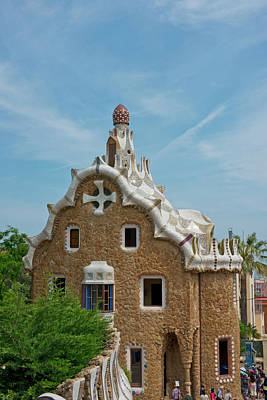 Gatehouse Photograph - Main Gatehouse To Gaudi Park by Jan and Stoney Edwards