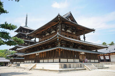 Photograph - Main Hall Of Horyu-ji - World's Oldest Wooden Building by David Hill