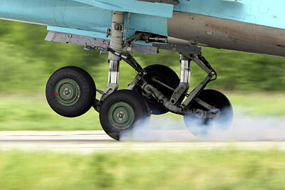 Photograph - Main Landing Gears Of Su-34 Attack by Artyom Anikeev