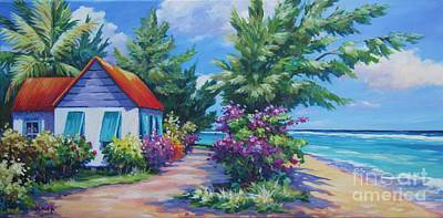 Caribbean House Painting - Scenic Route by John Clark