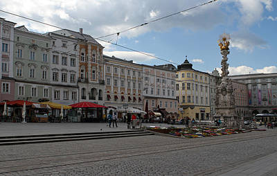 Photograph - Main Square Of Linz by Juergen Roth