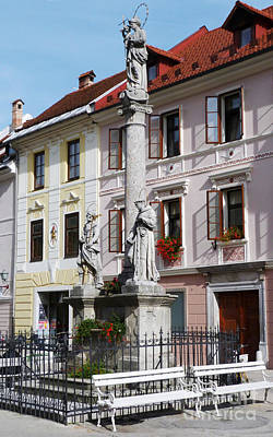 Photograph - Main Square - Skofja Loka - Slovenia by Phil Banks
