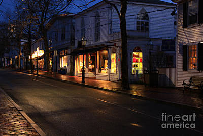 Photograph - Main St. Edgartown by Butch Lombardi