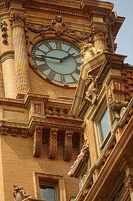 Art Print featuring the photograph Main St Station Clock Tower Richmond Va by Suzanne Powers