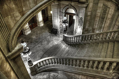 Main Staircase From Above Art Print by Ed Cilley
