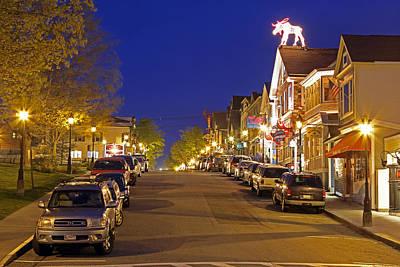 Mdi Photograph - Main Street Bar Harbor by Juergen Roth