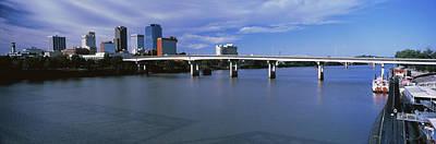 Main Street Bridge Across Arkansas Art Print